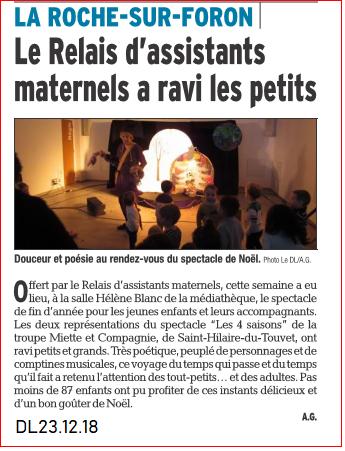 Le Relais d'assistants maternels a ravi les petits-DL du 23 décembre 2018